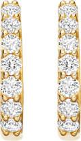 Astley Clarke Mini Halo 14ct rose-gold diamond hoop earrings