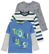 George Assorted Long Sleeve Tops 3 Pack