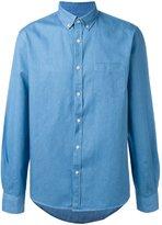 Sunspel button-down denim shirt - men - Cotton/Linen/Flax - L