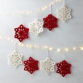 west elm Felt Snowflake Ornaments (Set of 4)