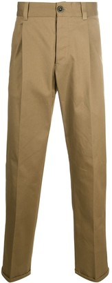 Pt01 Pleat-Front Cropped Tailored Trousers