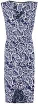 Yumi Navy Sleeveless Dress With Paisley Print