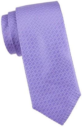 Canali Tonal Abstract Silk Tie