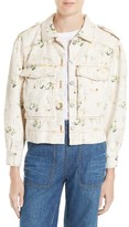 Rebecca Taylor Women's Floral Denim Jacket