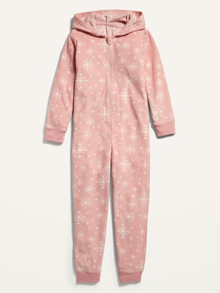 Old Navy Gender-Neutral Micro Fleece Hooded Pajama One-Piece for Kids
