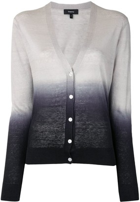 Theory V-Neck Ombre Cardigan