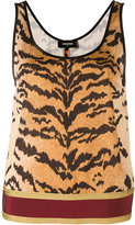 DSQUARED2 tiger print tank top - women - Cotton/Polyester/Viscose - 38