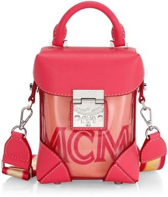 MCM Mini Soft Berlin Transparent Crossbody Box Bag