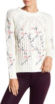 Cotton Emporium Embroidered Cable Knit Sweater