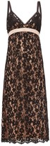Gucci Embroidered Floral-lace Slip Dress - Womens - Black