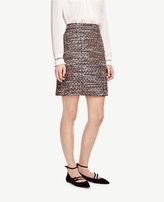 Ann Taylor Sequin Tweed Skirt