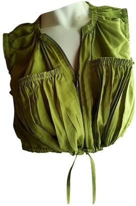 Jean Paul Gaultier Khaki Silk Top for Women Vintage