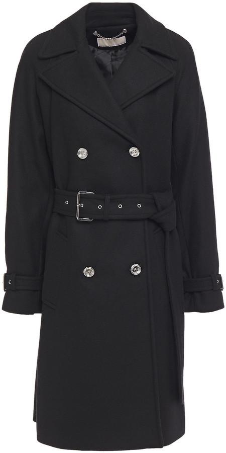MICHAEL Michael Kors Belted Wool-blend Twill Coat