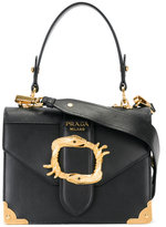 Prada logo plaque shoulder bag - women - Calf Leather - One Size