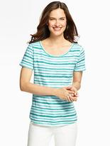 Talbots Brushstroke Stripes Tee
