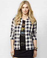 Denim & Supply Ralph Lauren Long-Sleeve Plaid Boyfriend Shirt