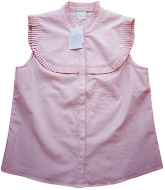 Karl Lagerfeld Paris Marc John Pink Cotton Top for Women