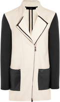 Tibi Fencing shearling-lined stretch-twill coat