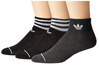adidas Originals 3-Pack Low Cut Socks (Black/Charcoal Heather/White) Women's Crew Cut Socks Shoes