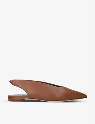 Manolo Blahnik Taxepa slingback leather flats