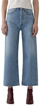 AGOLDE Blur Ren High-Rise Cropped Wide-Leg Jeans