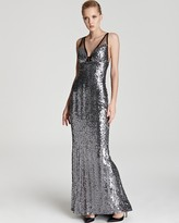 Faviana Sequin Gown - V Neck