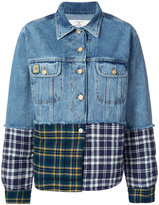 Natasha Zinko patchwork denim jacket - women - Cotton/Polyester - 34