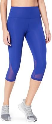 "Core Products Amazon Brand - Core 10 Women's Plus Size Race Day High Waist Run Mesh Capri Legging - 19"""