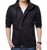 Prime Men's Slim Fit Harrington Jacket Cotton Casual Cargo jacket MCJ-01 (, S)