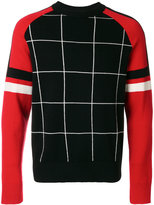 Ami Alexandre Mattiussi window pane check sweater - men - Merino/Polyimide - XS