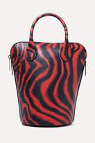 Calvin Klein 205w39nyc CALVIN KLEIN 205W39NYC - Dalton Mini Printed Leather Bucket Bag - Red