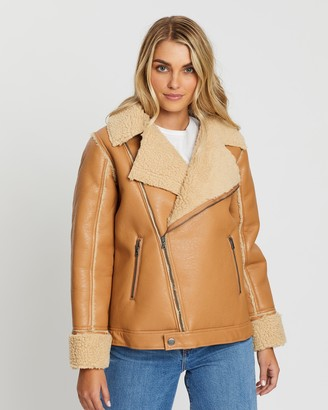 All About Eve Luxe Aviator Jacket