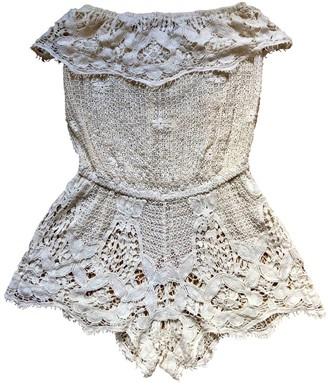 Eberjey White Cotton Jumpsuit for Women
