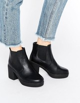 Chunky Heel Chelsea Boots - ShopStyle