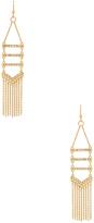 Rebecca Minkoff Pave & Fringe Chandelier Earrings