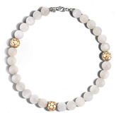 John Hardy Bead Necklace with White Moonstone