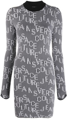 Versace Jeans Couture Logo Print Dress