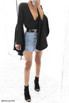 Forever 21 Denim Button-Front Mini Skirt