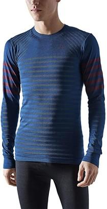 Craft Fuseknit Comfort Blocked Round Neck Long Sleeve (Beat/Peak) Men's Clothing