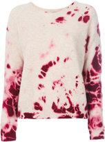 Suzusan - tie dye style knit top - women - Cashmere - S