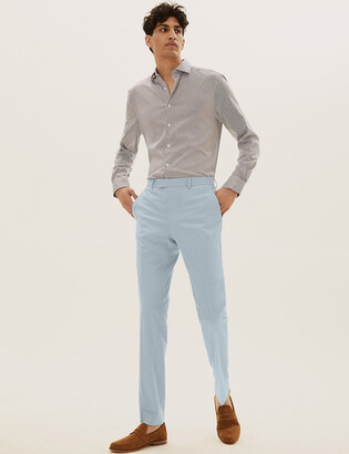 Marks and Spencer Pastel Slim Fit Trousers with Stretch