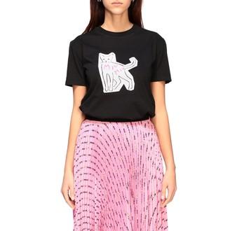 Miu Miu Short-sleeved T-shirt With Cat