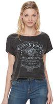 Rock & Republic Women's Guns N' Roses Graphic Crop Tee