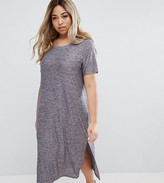 Junarose Short Sleeve Jersey Dress With Side Splits