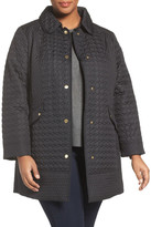 Ellen Tracy Quilted Barn Coat (Plus Size)
