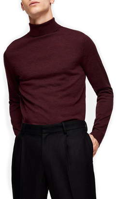 Topman Merino Wool Turtleneck Sweater