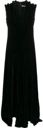 Christopher Kane ruffled trim evening dress