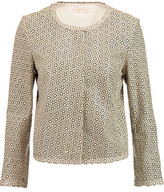 Tory Burch Perry Laser-Cut Leather Jacket