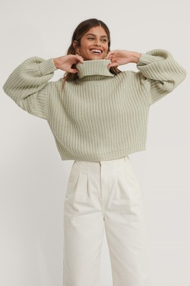 NA-KD High Neck Short Knitted Sweater