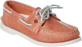 Sperry A/O 2-Eye White Cap Leather Boat Shoe